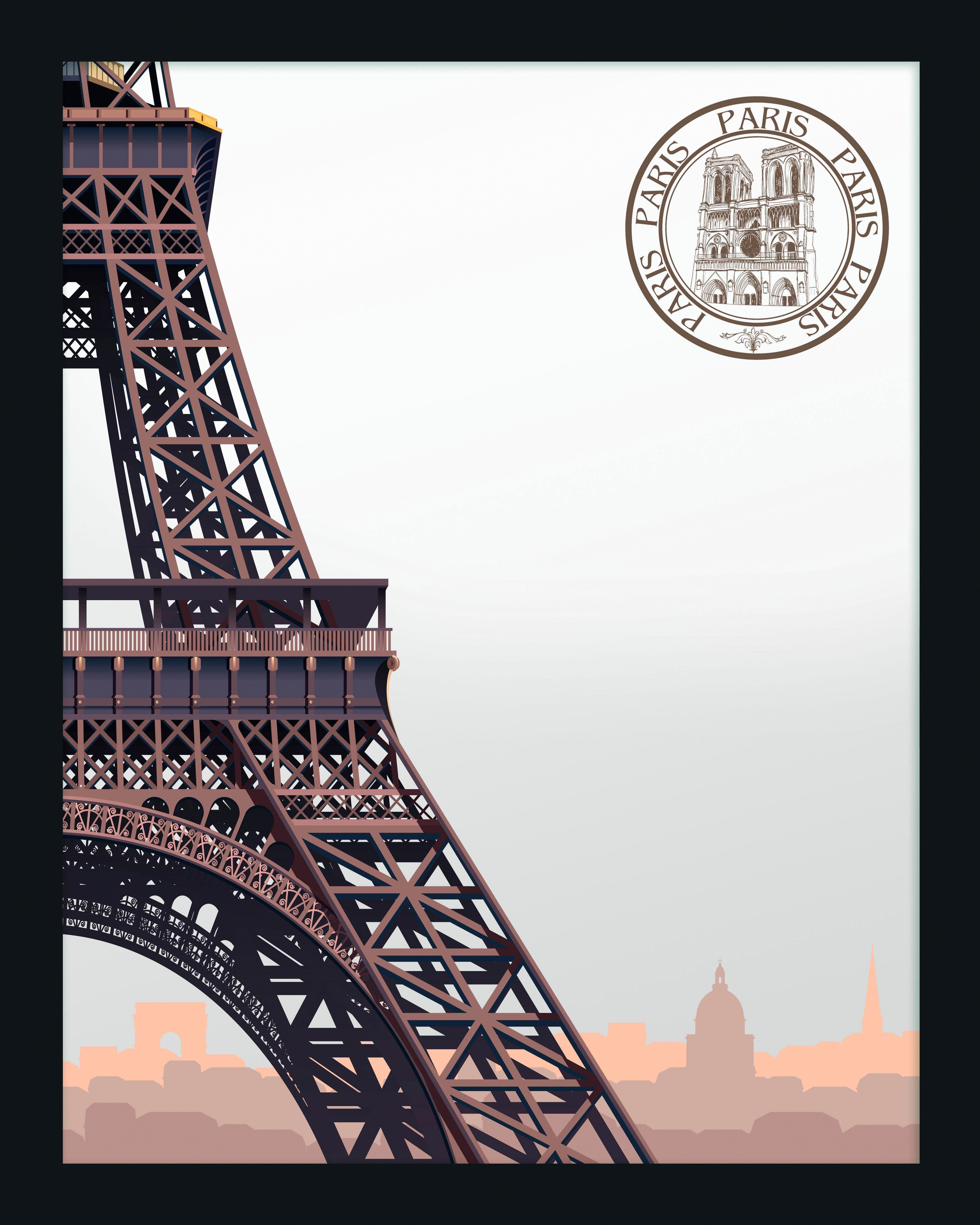 Spiegelbilder gerahmt »Eiffel Tower Paris« 40/50 cm