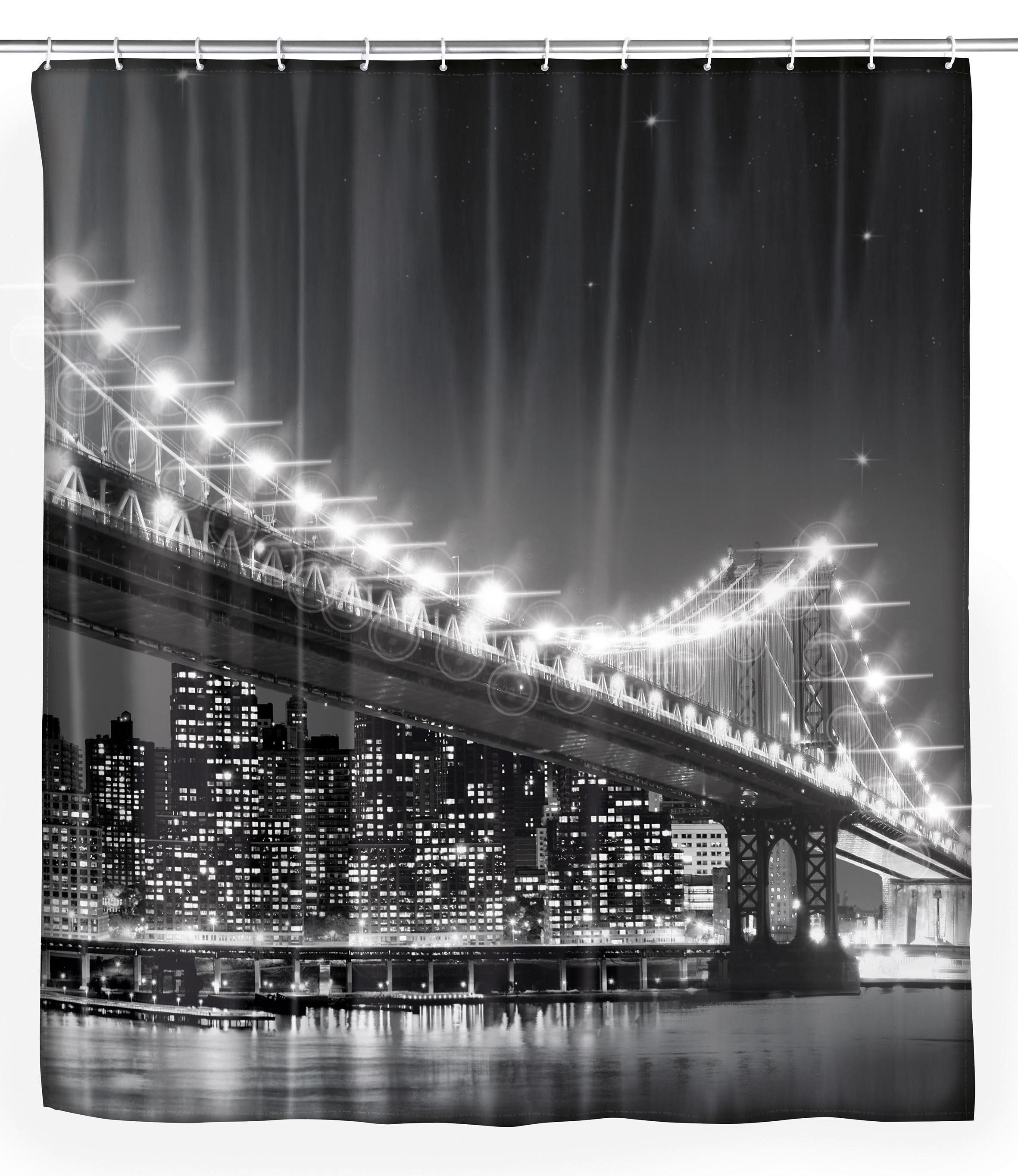 WENKO LED Duschvorhang »Brooklyn Bridge«