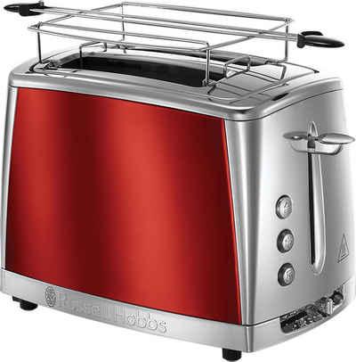 RUSSELL HOBBS Toaster Luna Solar Red 23221-56, 2 kurze Schlitze, für 2 Scheiben, 1550 W
