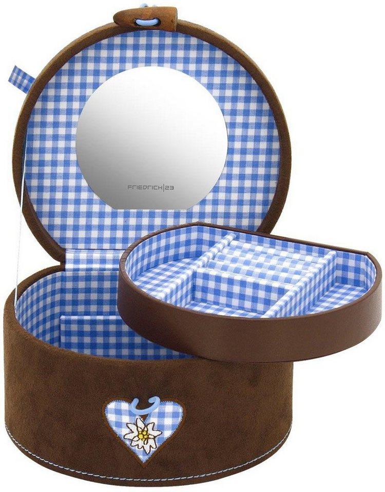 Friedrich23 Schmuckkoffer »Bavaria, 23326-5«, mit dekorativer Stickerei | Schmuck > Schmuckaufbewahrungen | Blau | Friedrich23