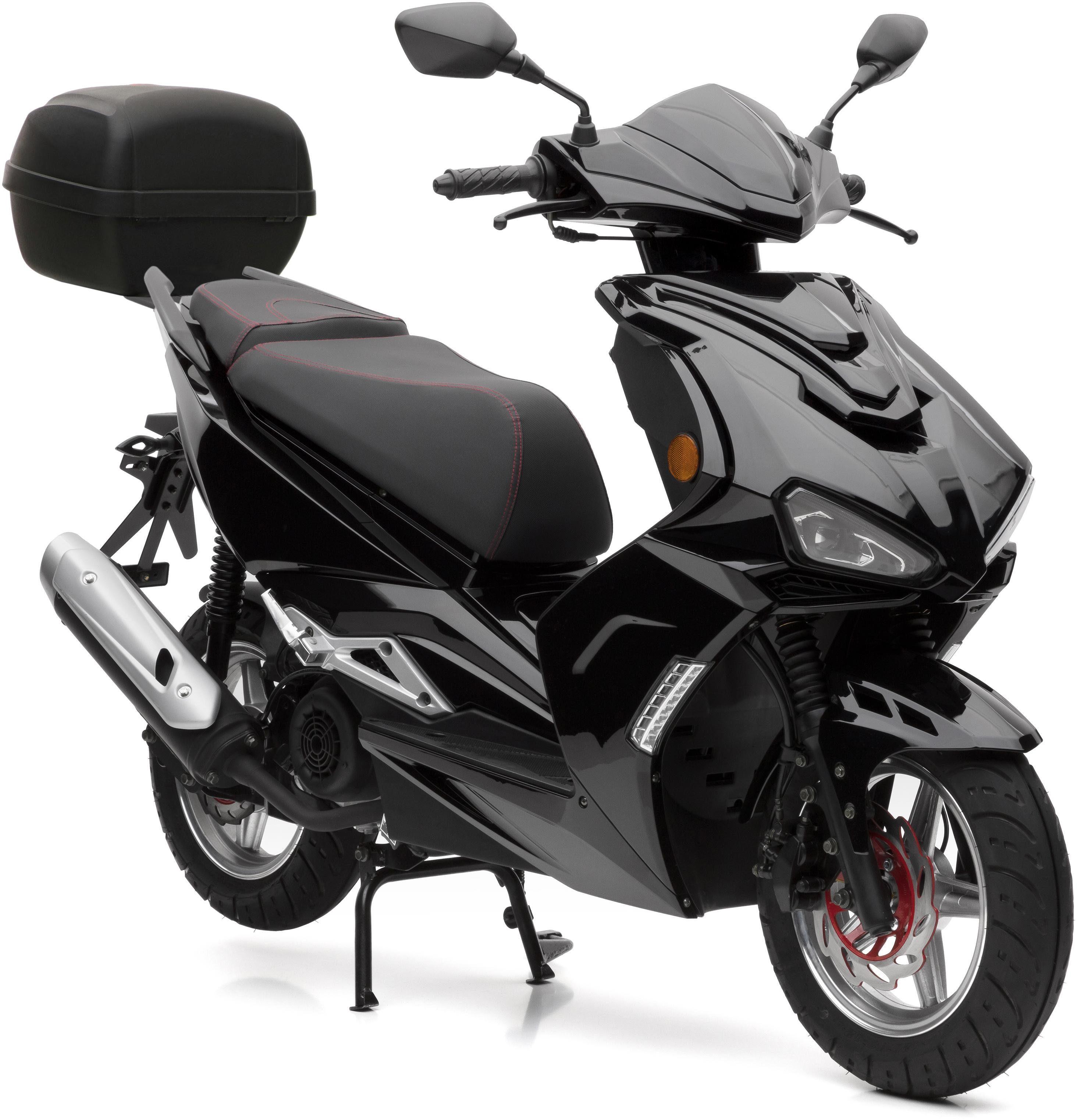 Nova Motors SET: Motorroller inkl. Topcase, 125 ccm, 80 km/h, »SP125i - Modell 2018«