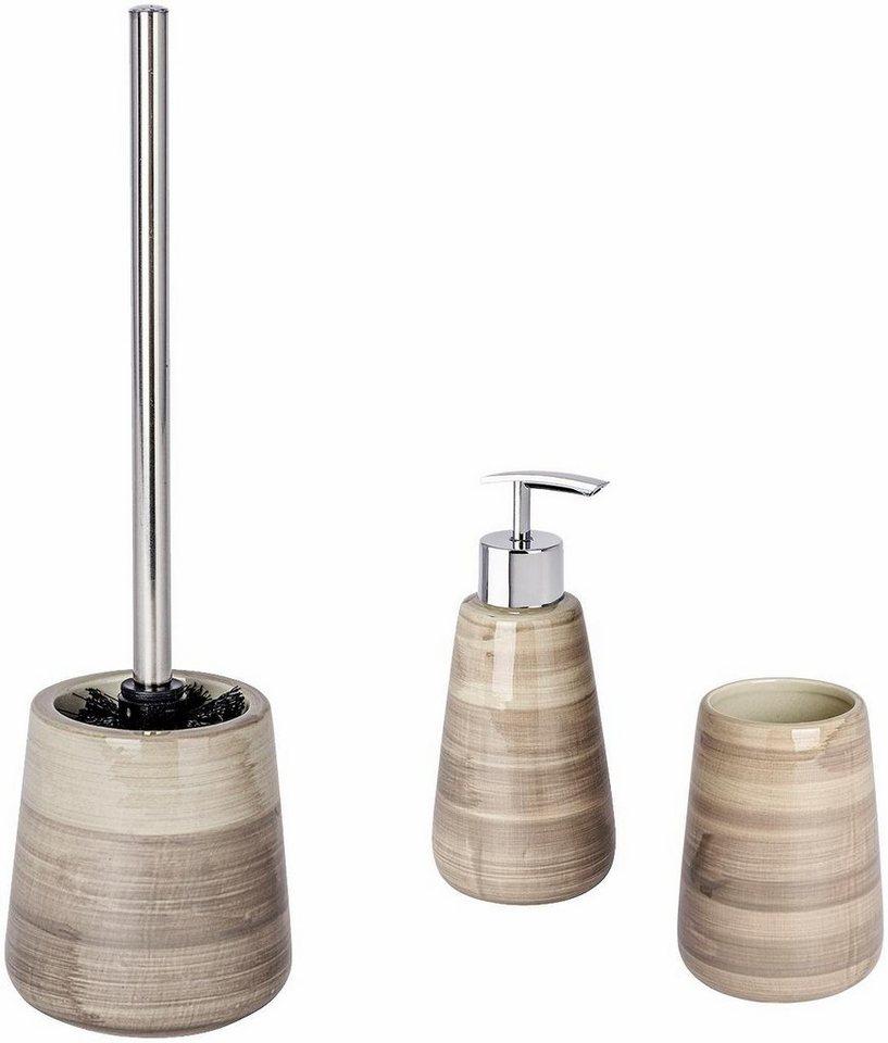 WENKO Bad-Accessoires Set »Pottery« online kaufen | OTTO