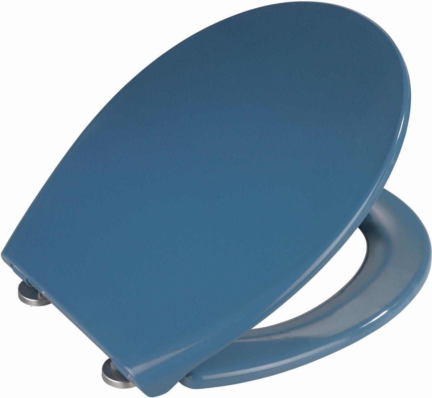 WENKO Premium WC-Sitz »Samos Slate Blue«   Bad > WCs   Blau   Edelstahl   WENKO