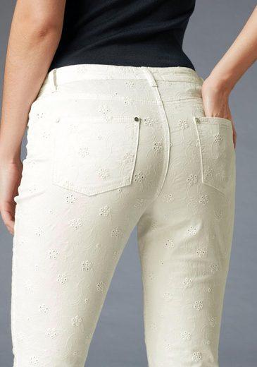 GUIDO MARIA KRETSCHMER 5-Pocket-Hose, mit Lochstickerei
