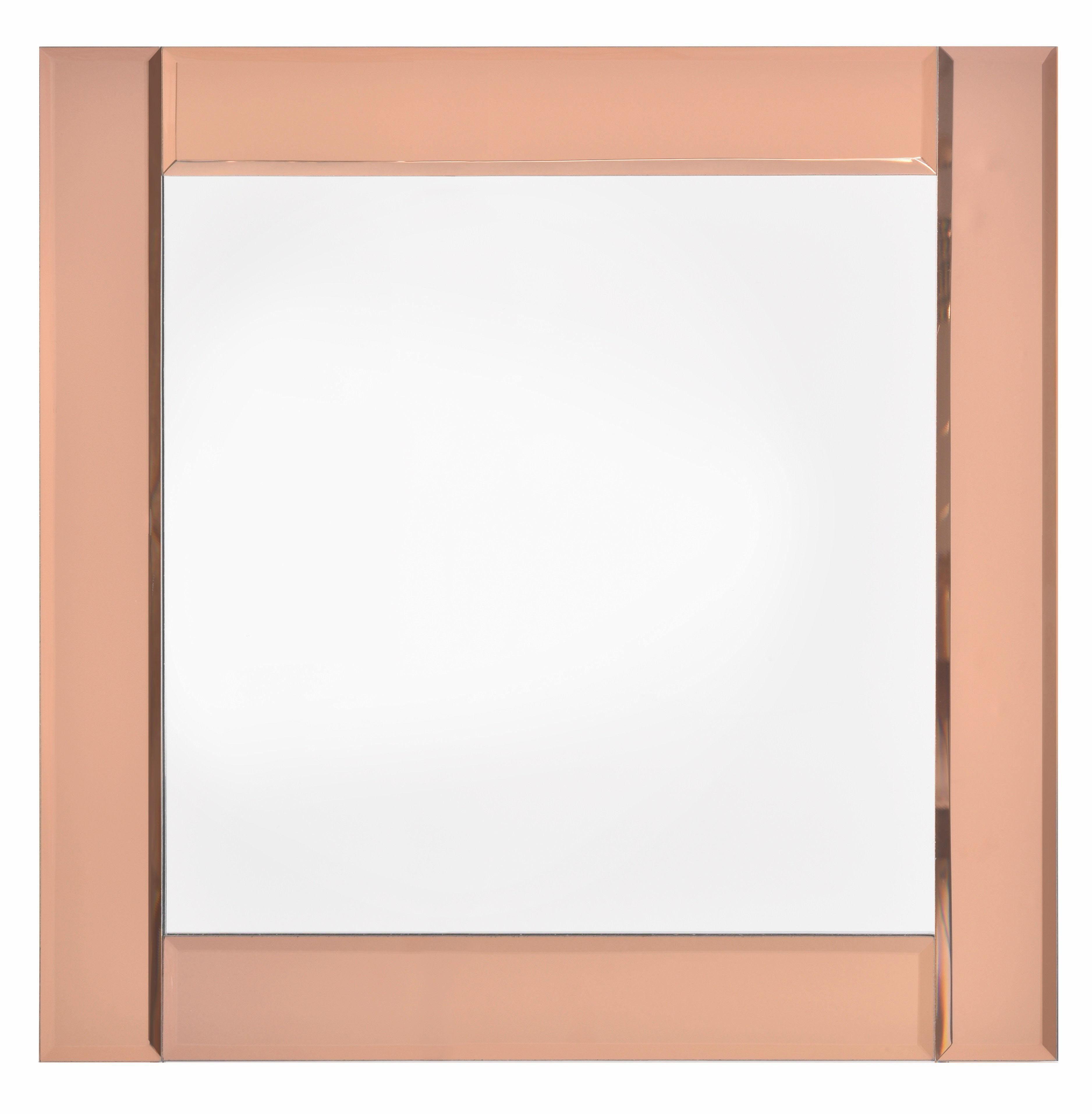 Home affaire Spiegel »Rose Gold Panelled Glass Mirror« 50/50 cm