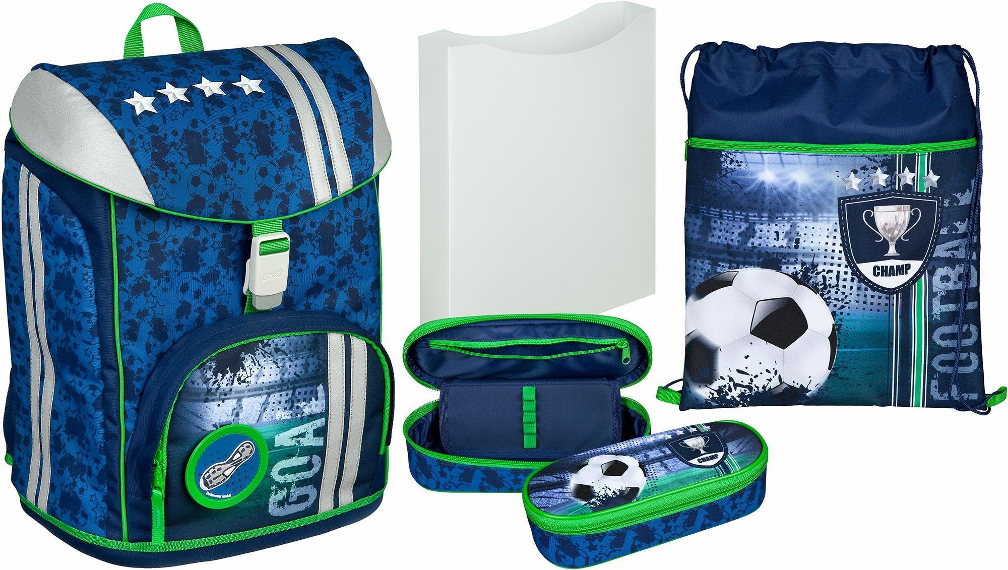 Scooli Schulrucksack Set 5-tlg., »FlexMax Football Cup«
