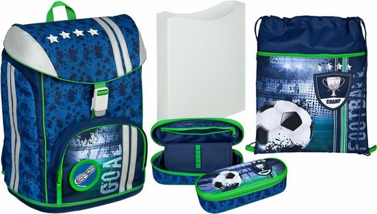 Scooli Schulrucksack »FlexMax, Football Cup« (Set)