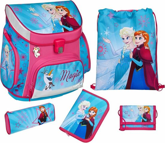 Scooli Schulrucksack »Campus Up Frozen - Magic« (Set)
