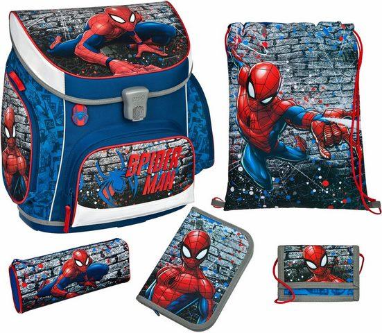 Scooli Schulrucksack »Campus Up Spiderman« (Set)