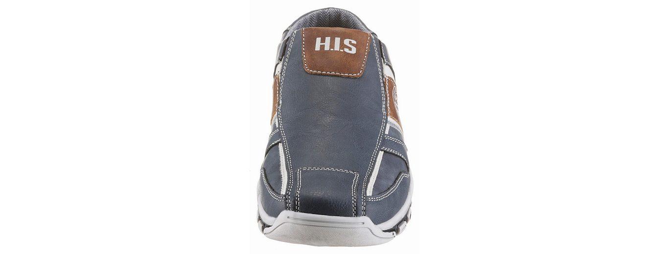 H.I.S Clog, mit seitlichen Stretcheinsätzen