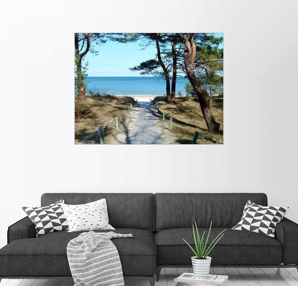 Posterlounge Wandbild - Andrea Potratz »Am Ostseestrand auf Rügen« | Dekoration > Bilder und Rahmen > Bilder | Holz | Posterlounge