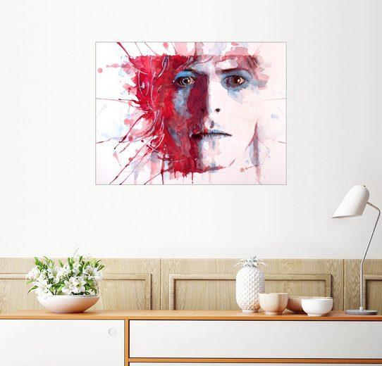 Posterlounge Wandbild - Paul Paul Lovering Arts »The Prettiest Star : David Bowie«