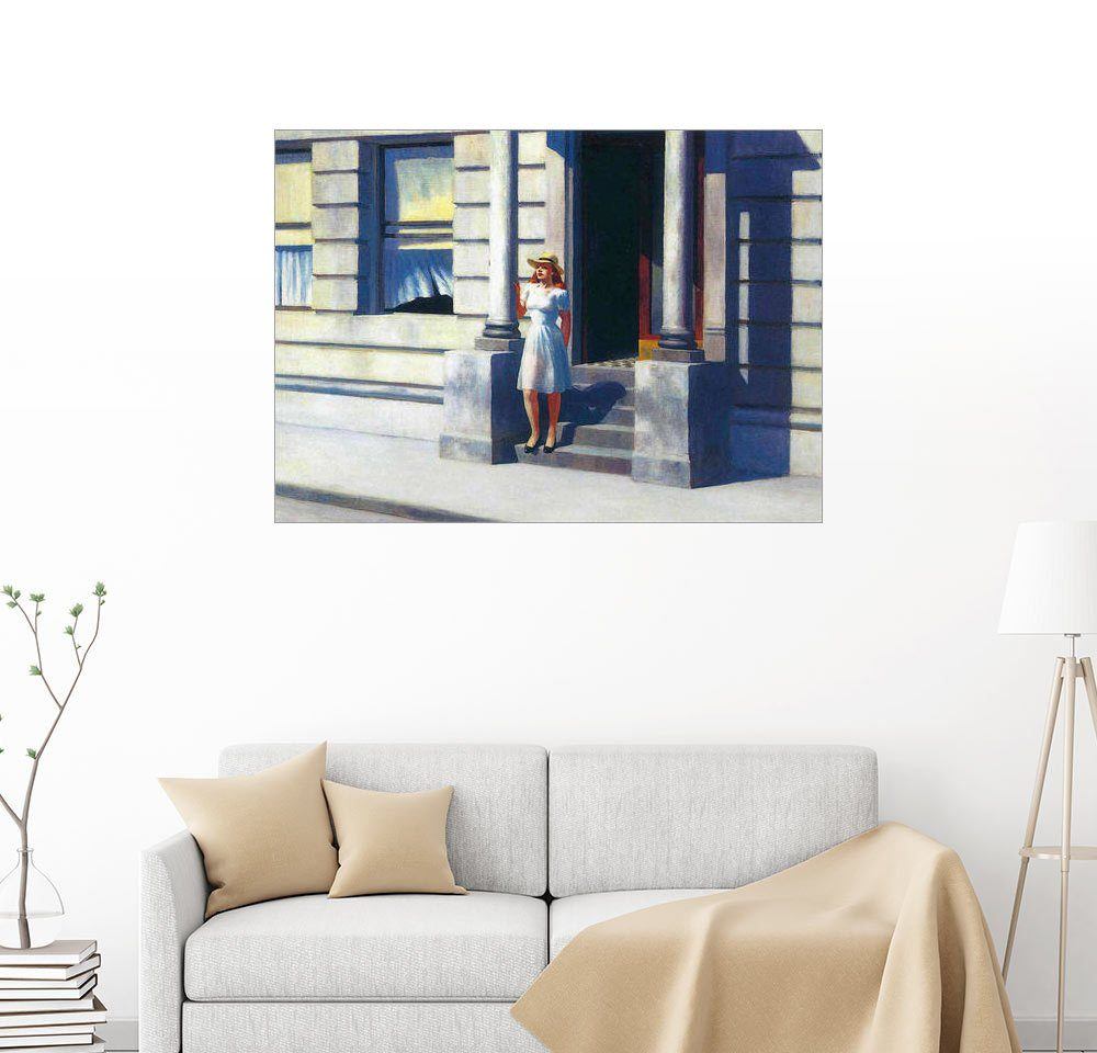 Posterlounge Wandbild - Edward Hopper »Sommerzeit«