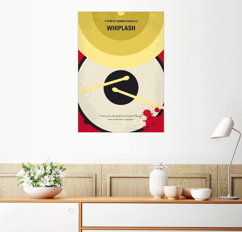 Posterlounge Wandbild - chungkong »No761 My Whiplash minimal movie poster« | Dekoration > Bilder und Rahmen > Poster | Holz | Posterlounge