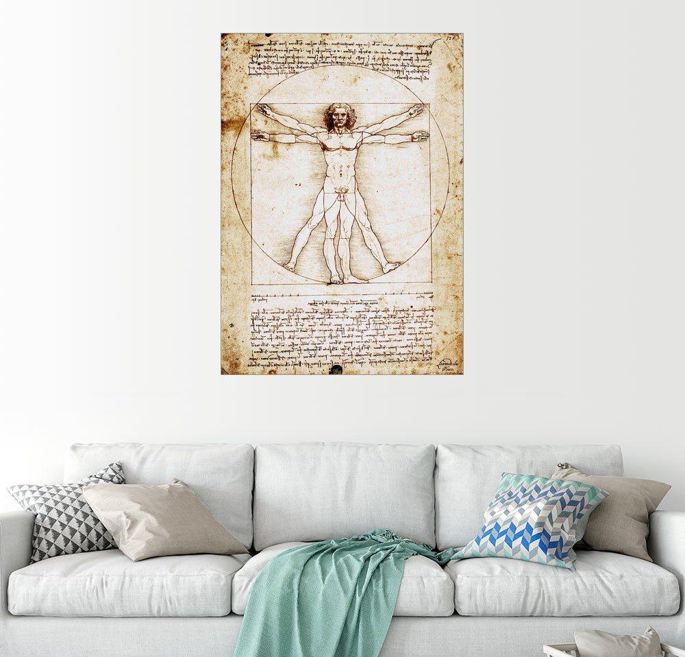 Posterlounge Wandbild - Leonardo da Vinci »Vitruvianischer Mensch«