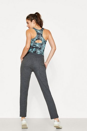 ESPRIT Sweat-Pants mit gummierten Galonstreifen