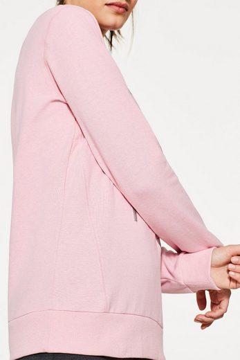ESPRIT Sweatshirt mit Glanz-Print, Baumwoll-Mix
