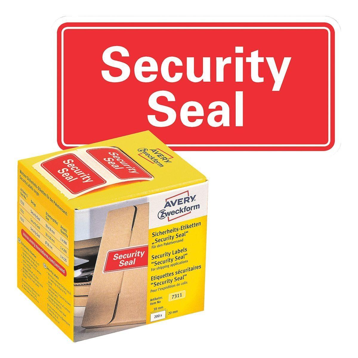 ZWECKFORMAVERY Sicherheitssigel 7311 38 x 20 mm (B/L) »Security Seal«