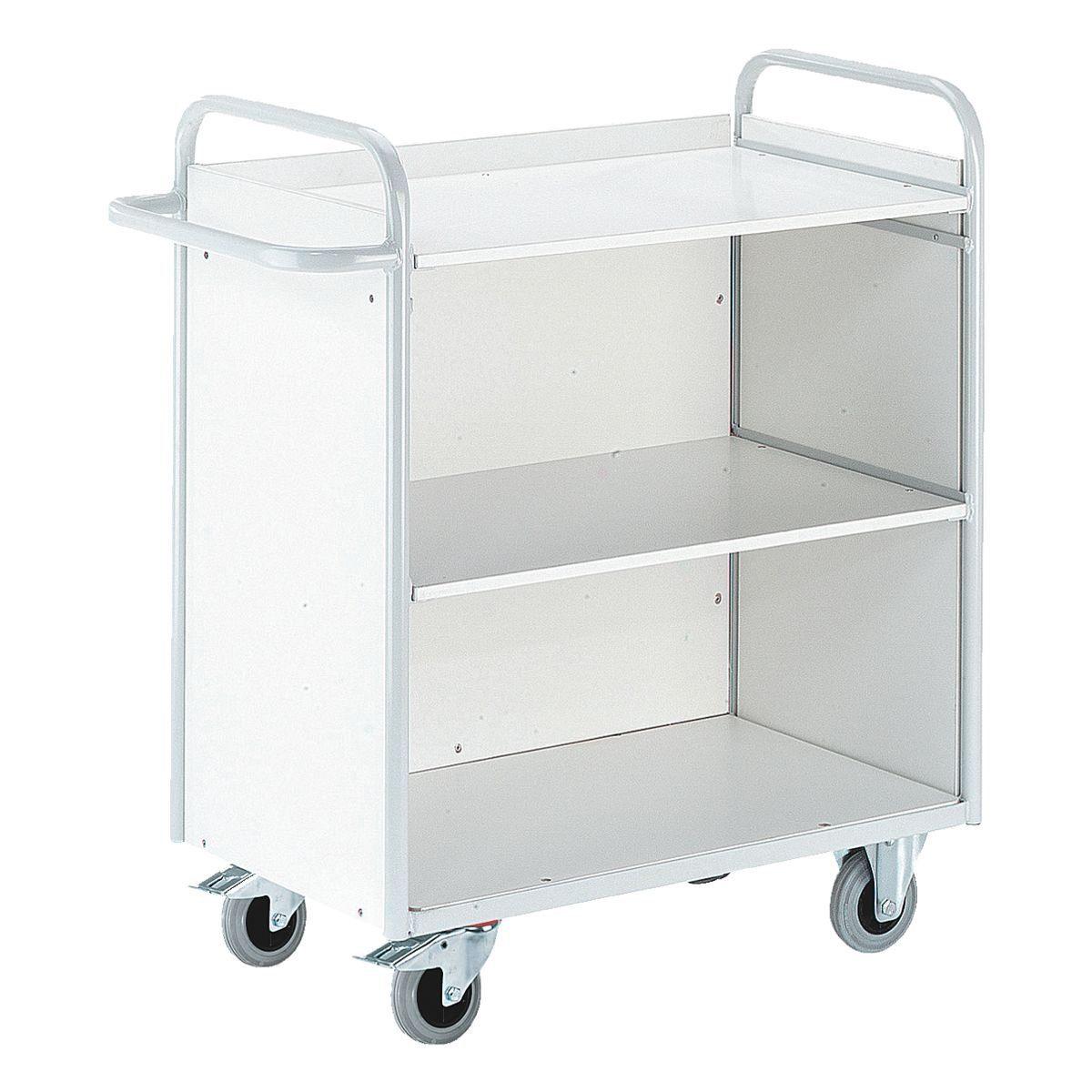 ROLLCART Bürowagen mit 3 Wänden
