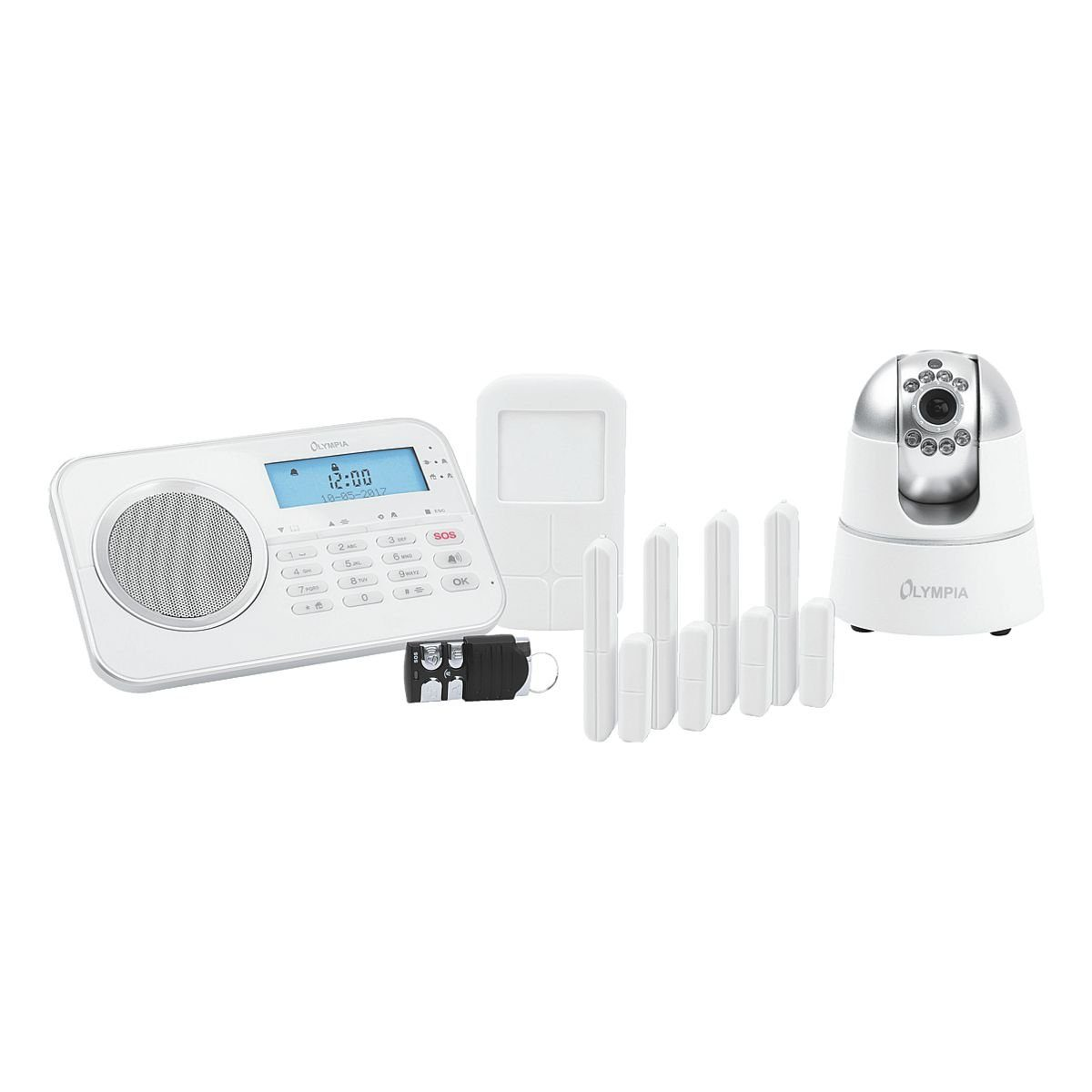 OLYMPIA OFFICE Drahtloses GSM-Alarmanlagen-Set »Protect 9881«