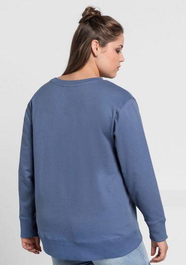 sheego Casual Sweatshirt, verlängertes Rückenteil
