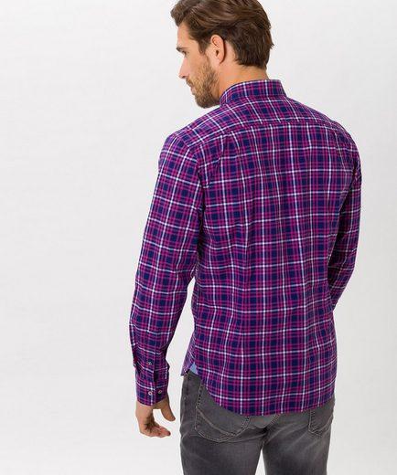 BRAX Danilo - Herrenhemd Modernes Hi-Flex Hemd mit klassischem Karomuster