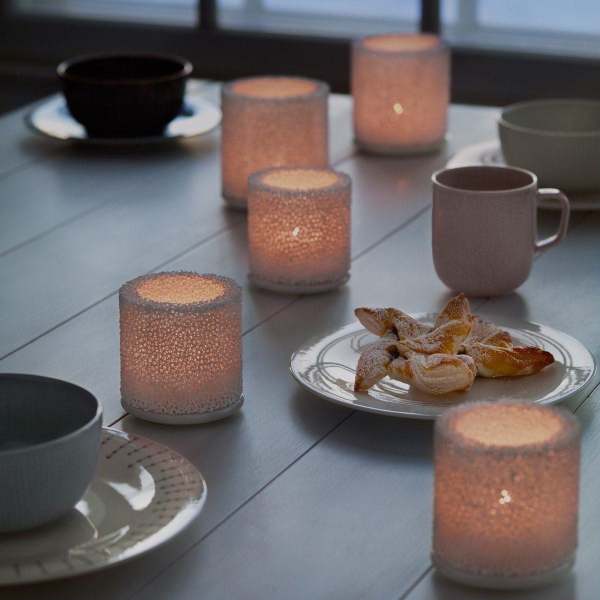 IITTALA Iittala Teelichthalter FIRE weiß