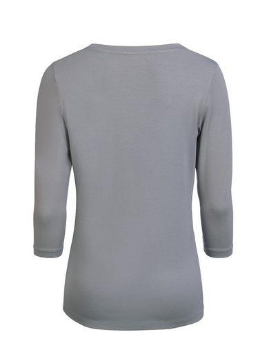 Mocca by J.L. 3/4-Arm-Shirt mit Strassdecor