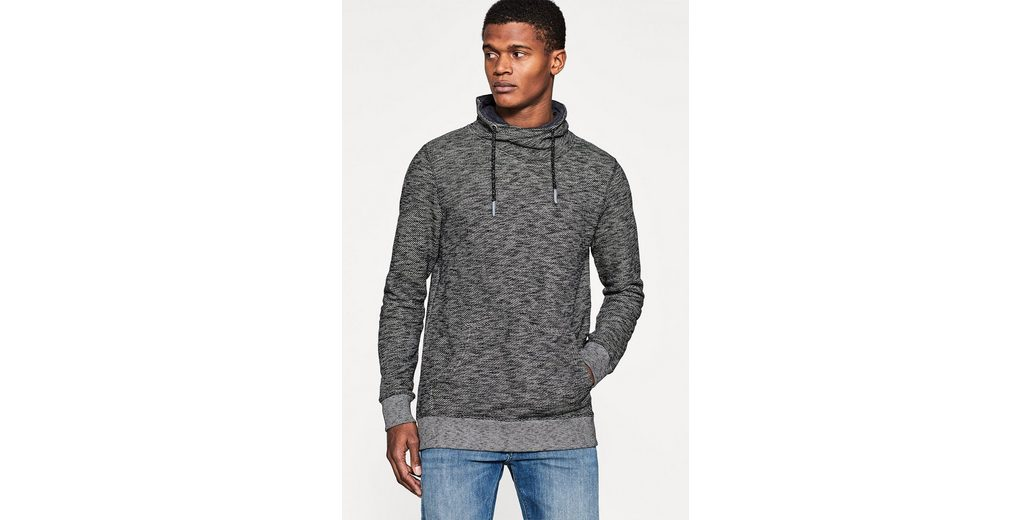 ESPRIT Sweater mit Tunnelkragen, Baumwolle