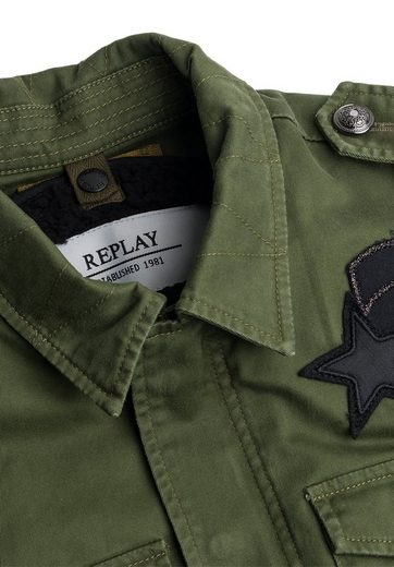 Replay Outdoorjacke mit Patches, Badges