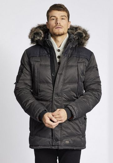 Khujo Winterjacke Coin With Rib Collar With Removable Knit Collar