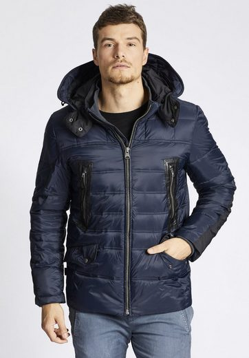 Khujo Quilted Jacket Kane, With Internal Knit Collar