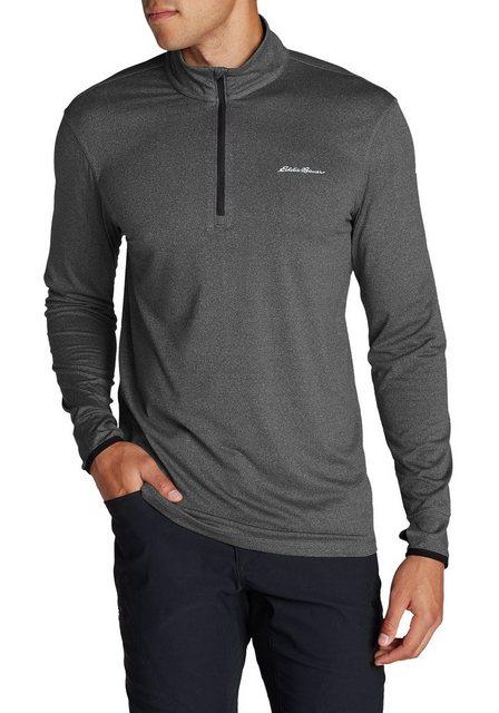 eddie bauer -  Langarm-Poloshirt Resolution Shirt IR mit 1/4-Reissverschluss
