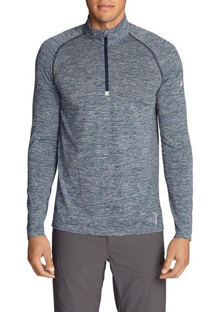 eddie bauer -  Langarm-Poloshirt Resolution Flux HD Shirt mit 1/4-Reissverschluss