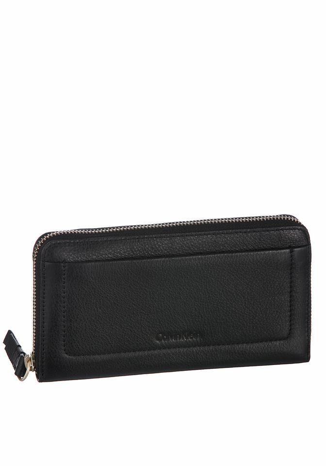 Calvin Klein Geldbörse »CONTEMPORY LARGE ZIPAROUND«, aus Leder mit schönen Ziernähten