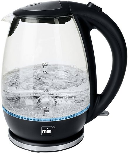 MIA Wasserkocher Glas EW3682, 1,7 l, 2200 W