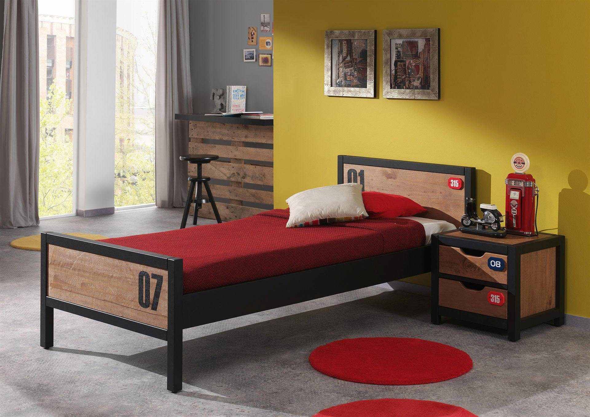 Vipack Bett »Alex« aus teilmassiver Kiefer und MDF