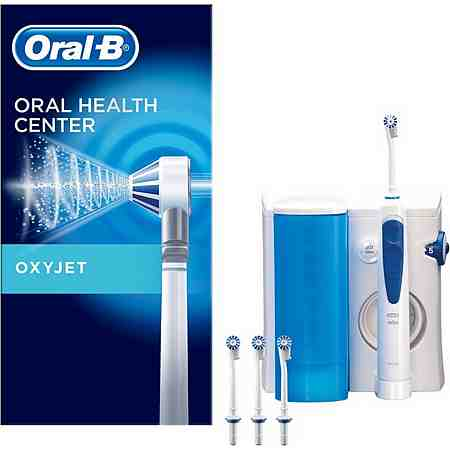 Ein Mundpflegecenter vereint eine elektrische Zahnbürste mit einer Munddusche - für ein rundum sauberes Mundgefühl.