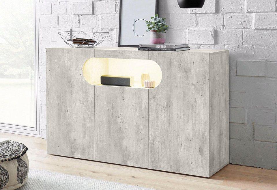 tecnos sideboard real breite 130 cm kaufen otto. Black Bedroom Furniture Sets. Home Design Ideas