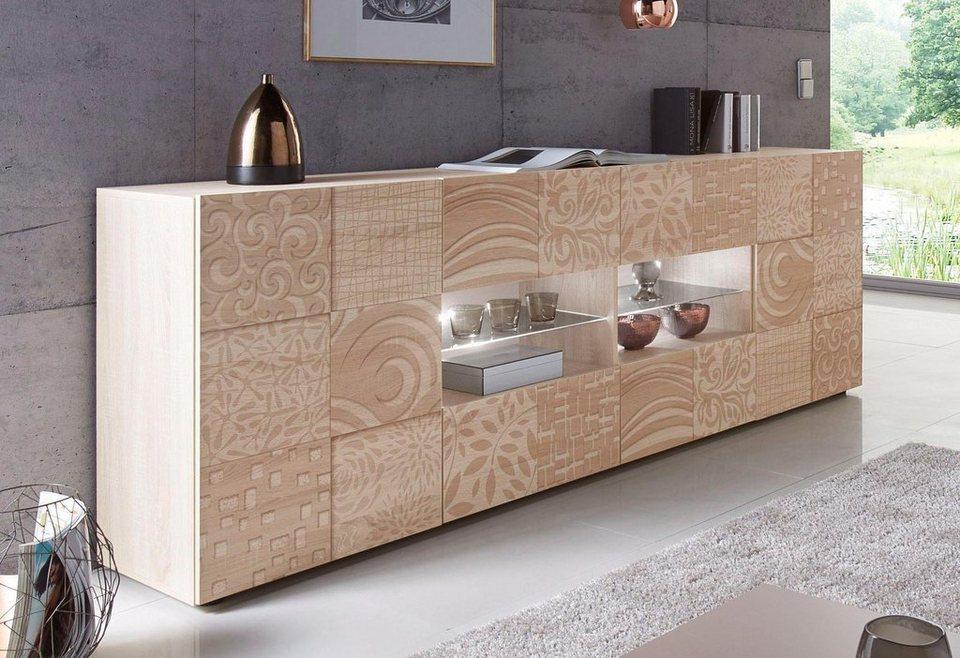 lc miro sideboard breite 241 cm mit dekorativem siebdruck online kaufen otto. Black Bedroom Furniture Sets. Home Design Ideas