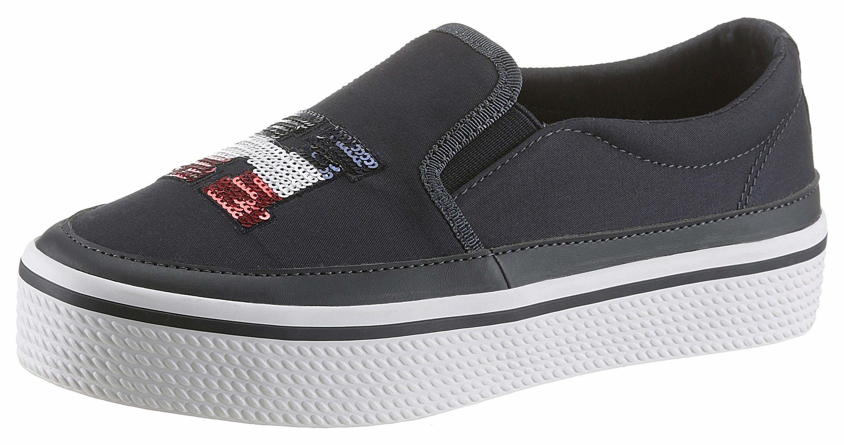 Tommy Hilfiger Kelsey 2 Slip-On Sneaker, mit Pailetten besetzt online kaufen  nachtblau