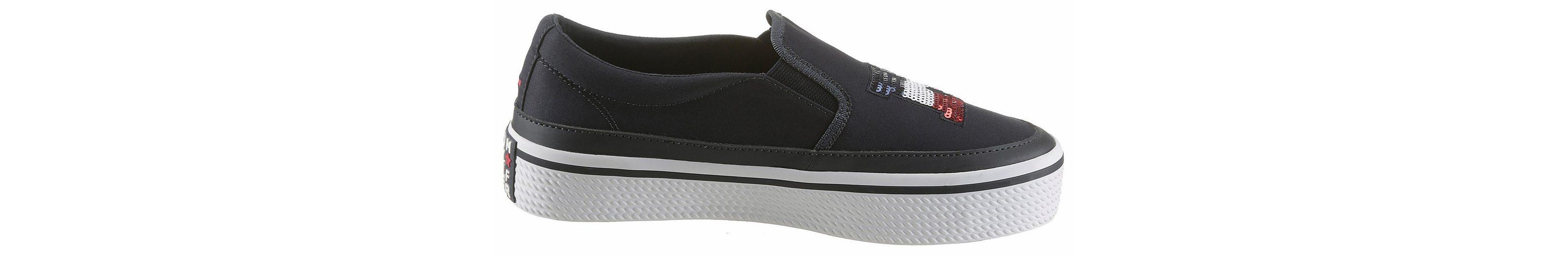 Tommy Hilfiger Kelsey 2 Slip-On Sneaker, mit Pailetten besetzt