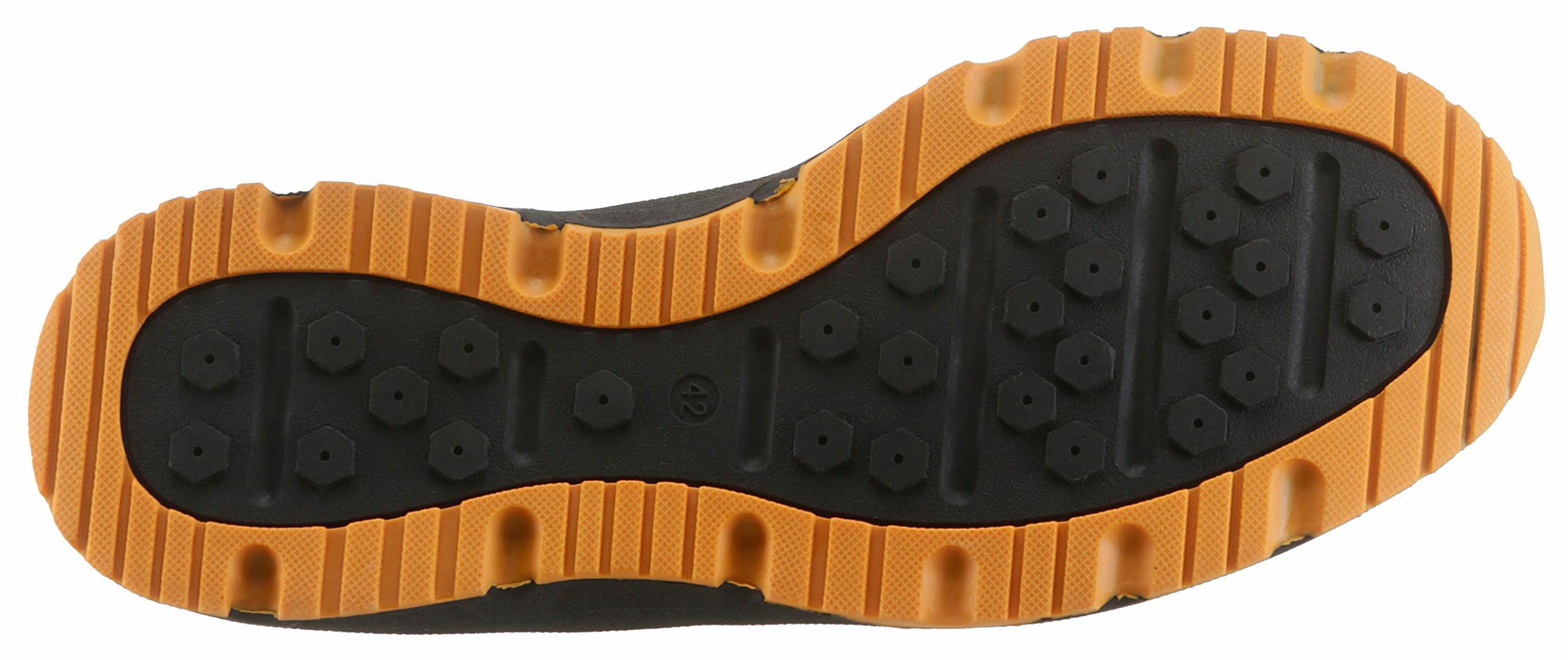 PETROLIO Clog, mit herausnehmbarer Innensohle  navy-orange