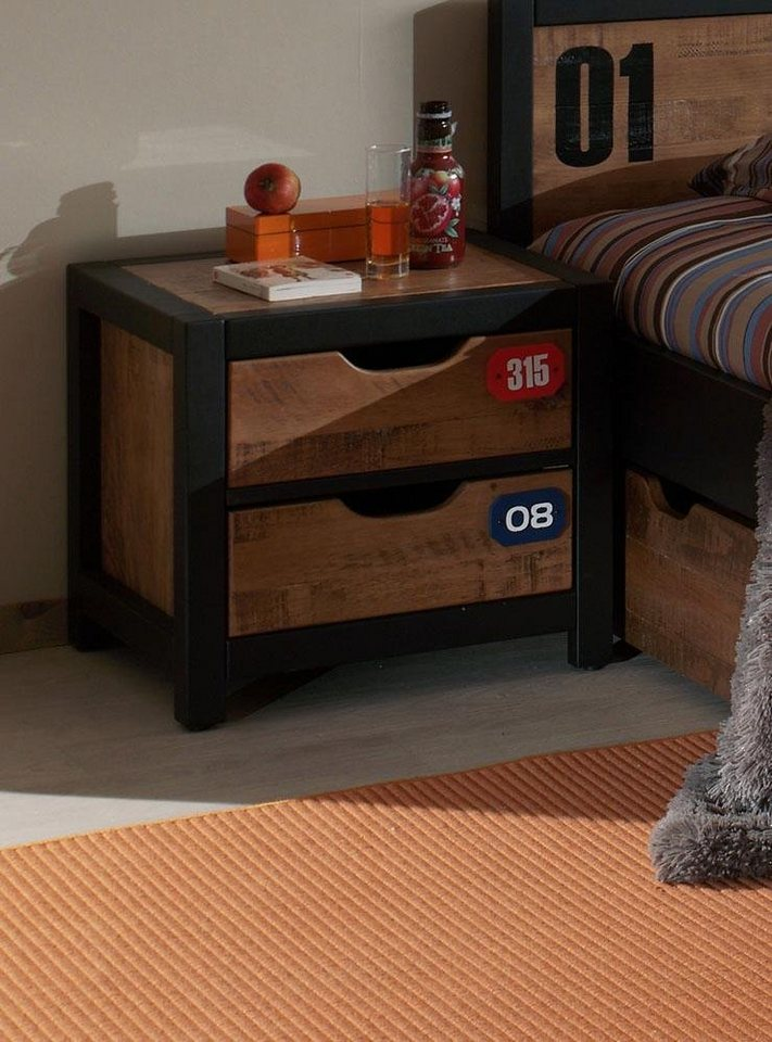 Vipack Nachttisch »Alex« aus teilmassiver Kiefer und MDF | Schlafzimmer > Nachttische | Vipack