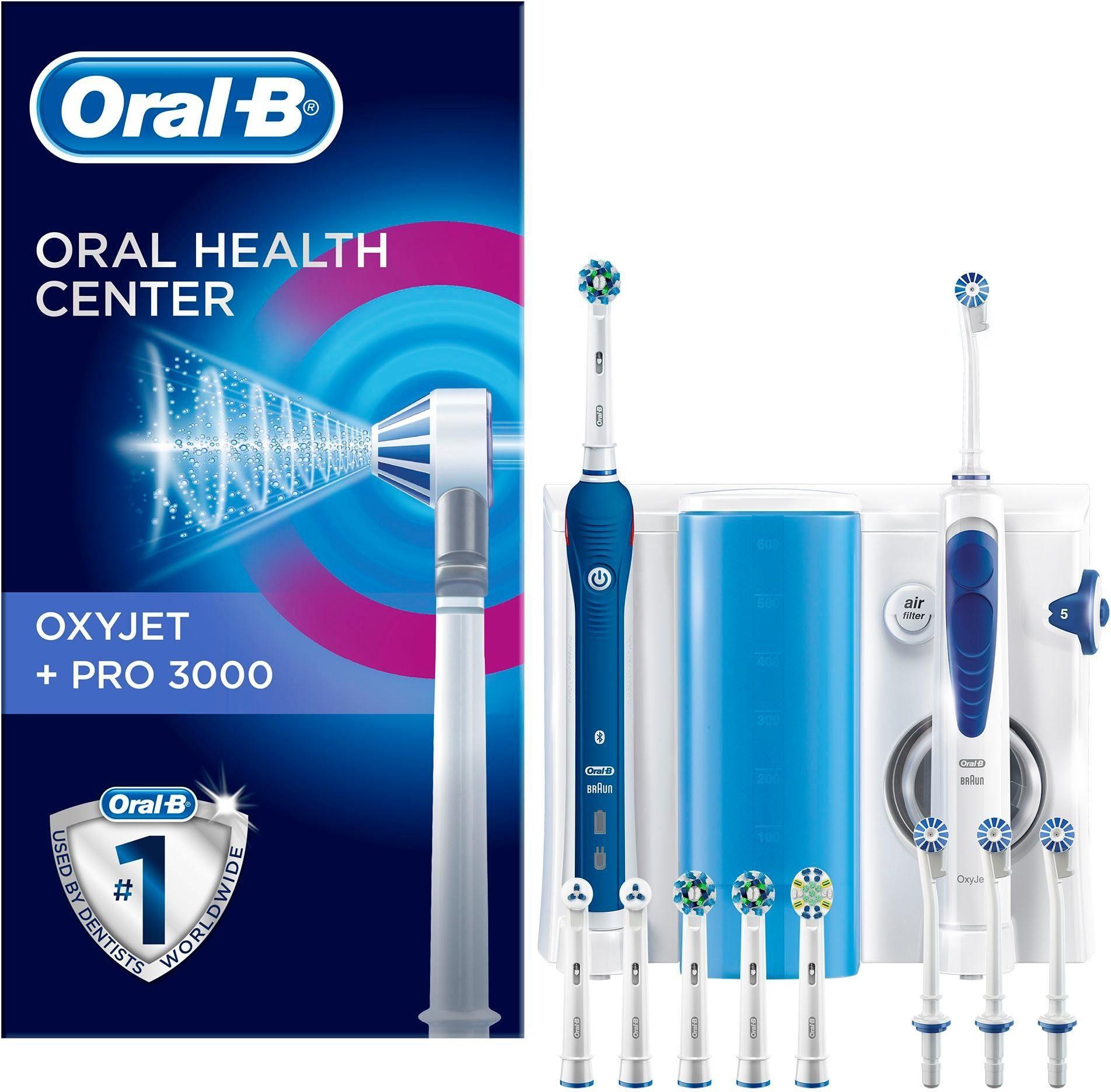 Oral-B Zahnpflegesystem OxyJet Reinigungssystem Munddusche + Oral-B PRO 3000
