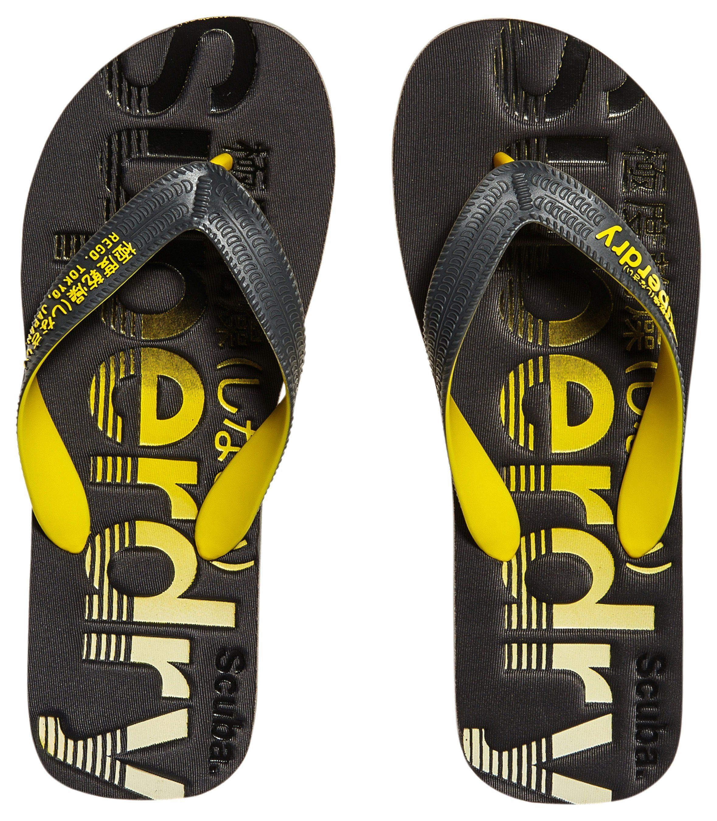 Superdry Zehentrenner, perfekt für den Strand  schwarz-gelb