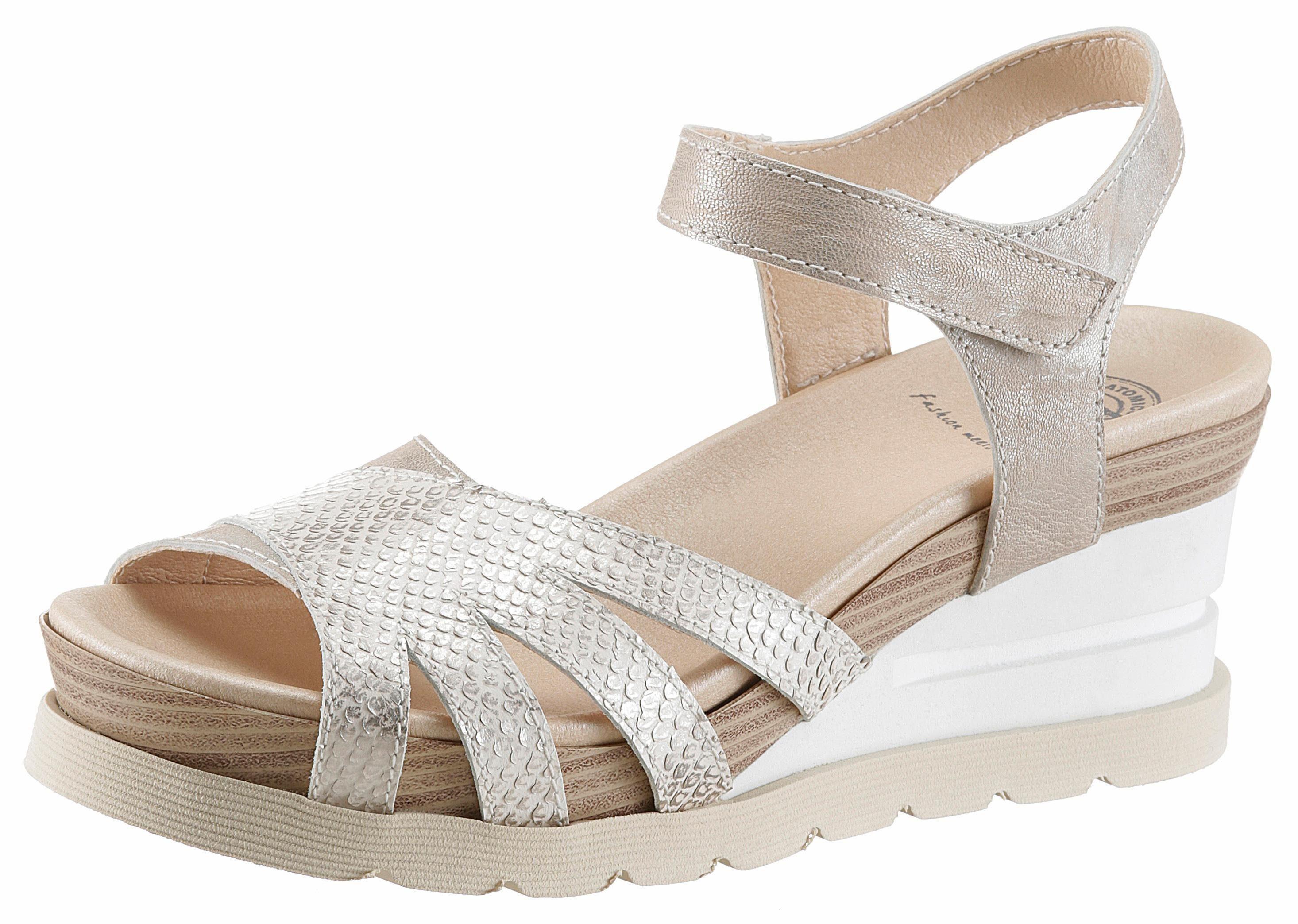 Brako Sandalette, in Metallic-Optik online kaufen  grau