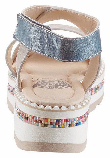 Brako Sandale, mit bunten Zierperlen