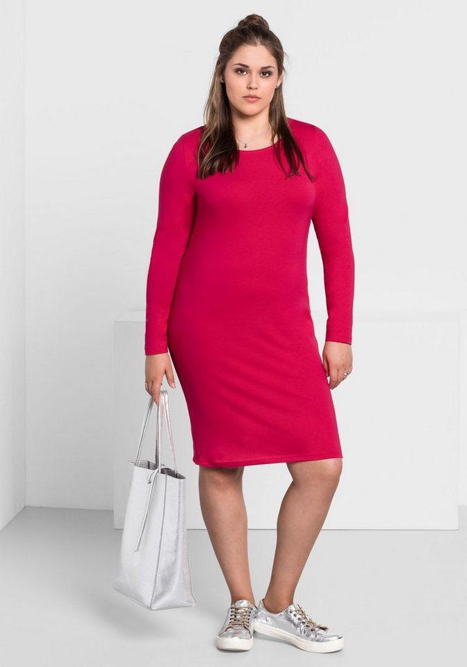 e0b3b04a692b51 sheego Basic Shirtkleid, Mit langen Ärmeln online kaufen | OTTO