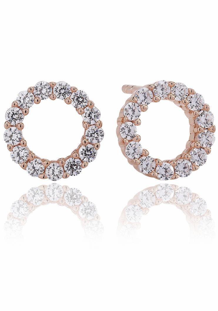 Sif Jakobs Jewellery Paar Ohrstecker »BIELLA UNO PICCOLO, SJ-E337-CZ(RG)« mit Zirkonia
